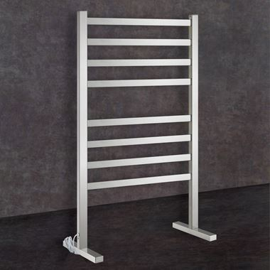 Thermosphere Thermorail Floorstanding Square Dry Electric Towel Rail