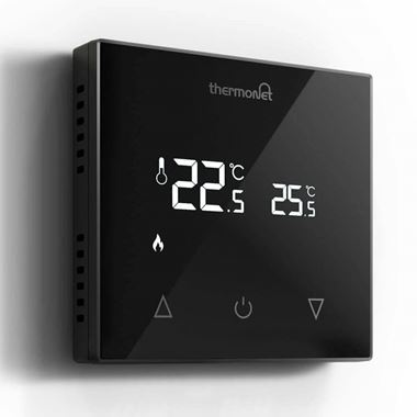 Thermosphere Thermotouch 9.2mG Glass Manual Thermostat - Black Glass
