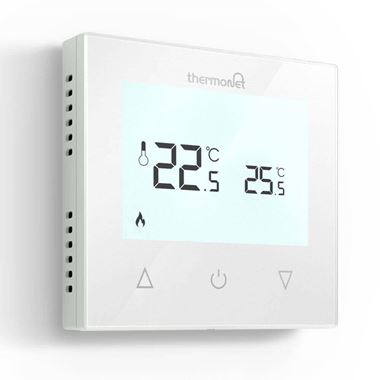 Thermosphere Thermotouch 7.6iG Glass Programmable Thermostat - White Glass