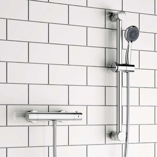 Eloise Exposed Thermostatic Bar Shower Valve & Slide Rail Kit