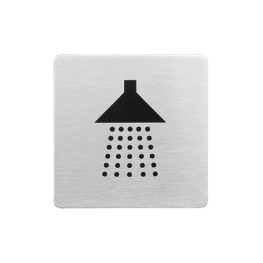 Urban Steel Brushed Stainless Steel Shower Sign - Square