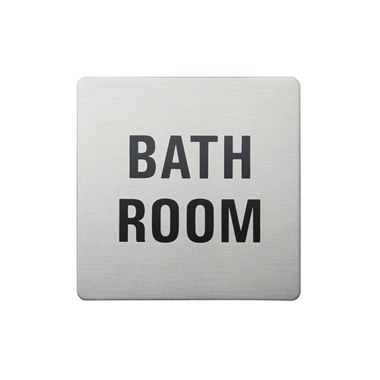 Urban Steel Brushed Stainless Steel Square Bathroom Sign