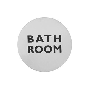 Urban Steel Brushed Stainless Steel Bathroom Sign