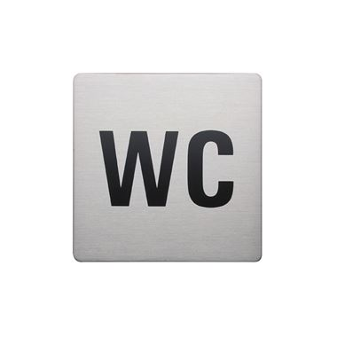 Urban Steel Brushed Stainless Steel Square WC Sign