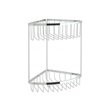 Vado Large Double Triangular Corner Basket With Integral Hook