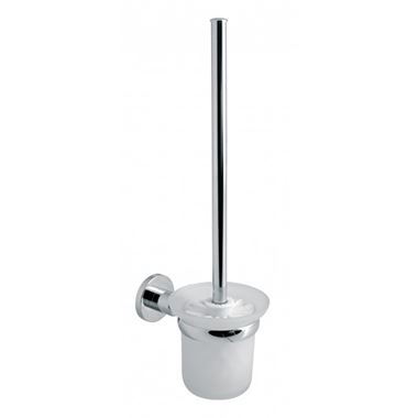 Vado Elements Toilet Brush and Frosted Glass Holder