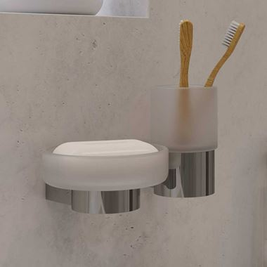Vado Infinity Wall Mounted Frosted Glass Soap Dish and Holder