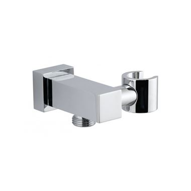 Vado Integrated Outlet and Shower Bracket With Round Back Plate