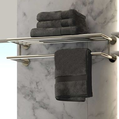Vado Spa Towel Shelf with Towel Rail - 600mm