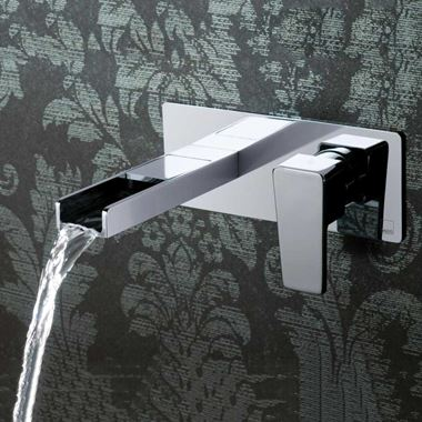 Vado Synergie Wall Mounted Basin Mixer With Waterfall Spout
