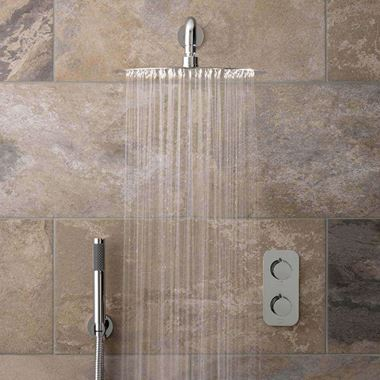 Vado Tablet Altitude Concealed Thermostatic Shower Package with Fixed Shower Head and Handset