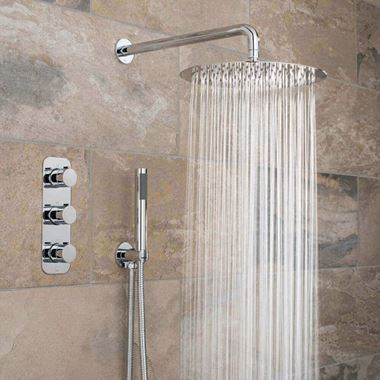 Vado Tablet Altitude Concealed Thermostatic Shower Package with Shower Head and Handset