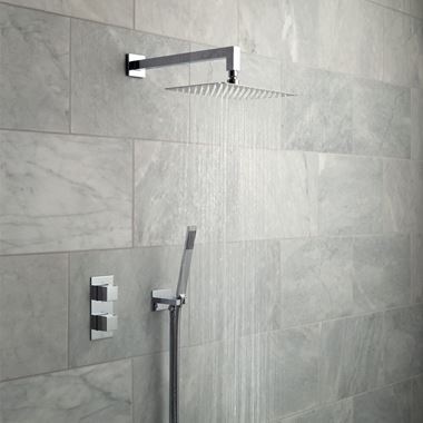 Vado Tablet Notion Concealed Thermostatic Shower Package with Fixed Shower Head and Handset