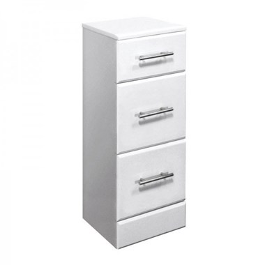 Vellamo Alpine 350mm 3 Drawer Storage Unit - 300mm Deep