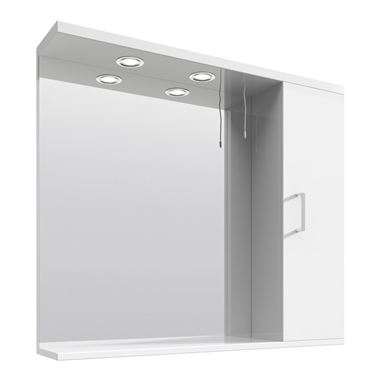Vellamo Alpine Illuminated Mirror Cabinet - 850 x 750mm