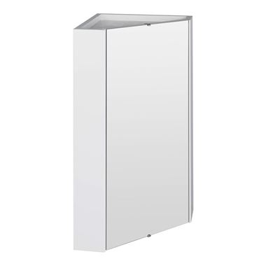 Vellamo Alpine Corner Mirror Cabinet Storage Unit - 459 x 650mm