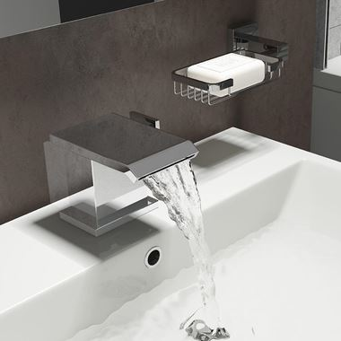 Vellamo Angel Waterfall Basin Mixer Tap with Waste