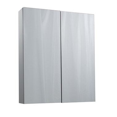 Vellamo Aspire 2 Door Gloss Grey Mirror Cabinet - 600 x 715mm