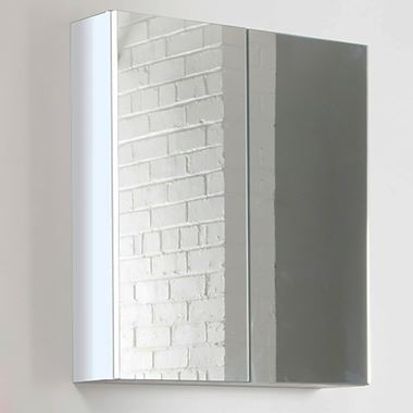 Vellamo Aspire 2 Door Gloss White Mirror Cabinet - 600 x 715mm