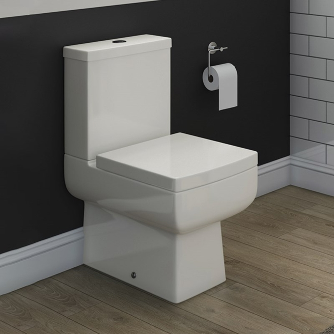 Vellamo Aspire Fully Back to Wall Toilet & Soft Close Seat - 610mm Projection