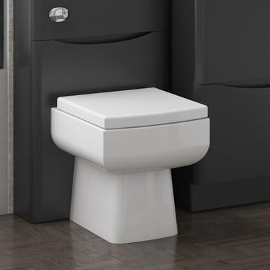 Vellamo Aspire Back to Wall Toilet & Soft Close Seat - 530mm Projection