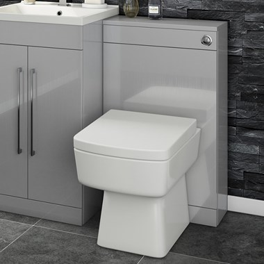 Vellamo Aspire Back to Wall WC Toilet Unit - Gloss Grey