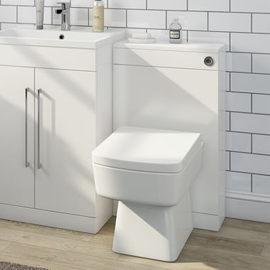 Vellamo Aspire Back to Wall WC Toilet Unit - Gloss White