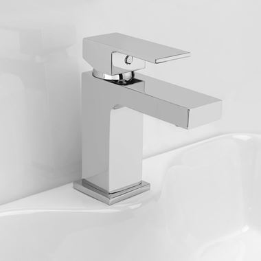 Vellamo Aspire Basin Mixer Tap with Clicker Waste