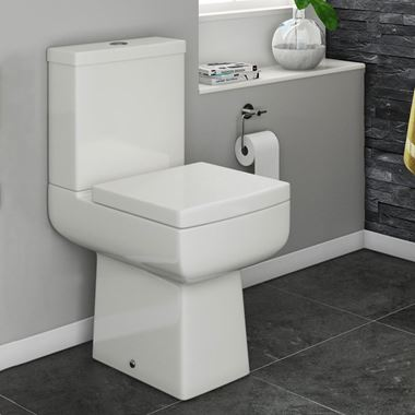 Vellamo Aspire Comfort Height Toilet & Soft Close Seat - 610mm Projection