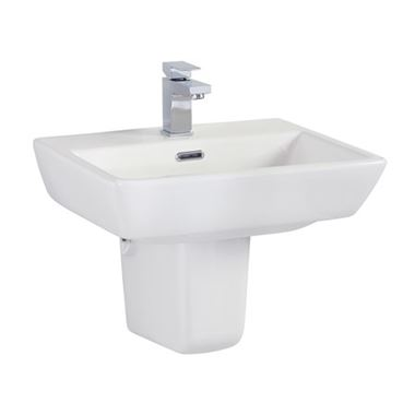 Vellamo Aspire Semi-Pedestal & Basin - 520mm