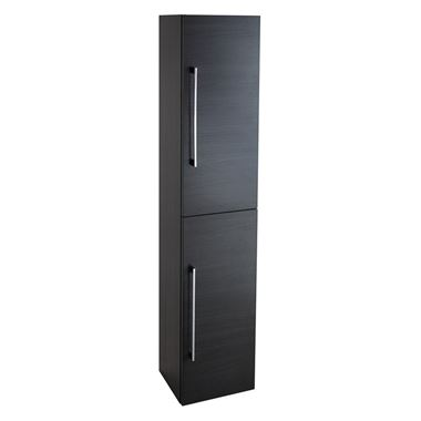 Vellamo Aspire Tall 2 Door Bathroom Storage Unit - Black Ash