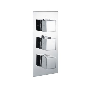 Vellamo Blox 3 Outlet Thermostatic Concealed Shower Valve