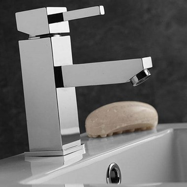 Vellamo Blox Basin Mixer Tap with Waste