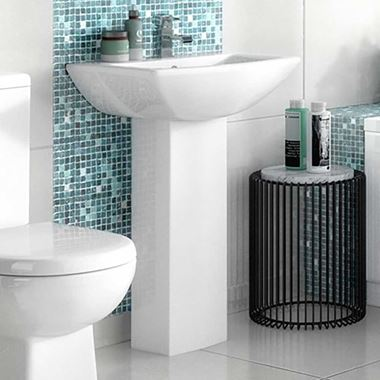 Vellamo City 600mm Full Pedestal & Basin
