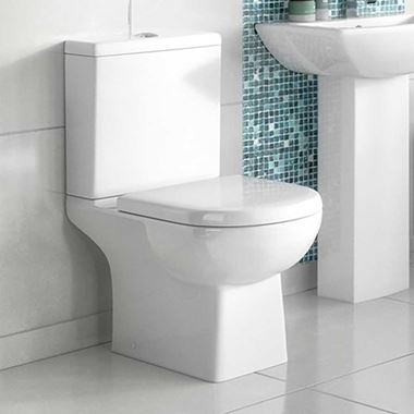 Vellamo City Modern Close Coupled Toilet with Soft Close Seat - 670mm Projection