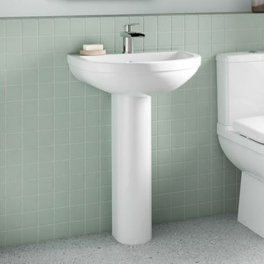 Vellamo Connect 550mm Full Pedestal & Basin