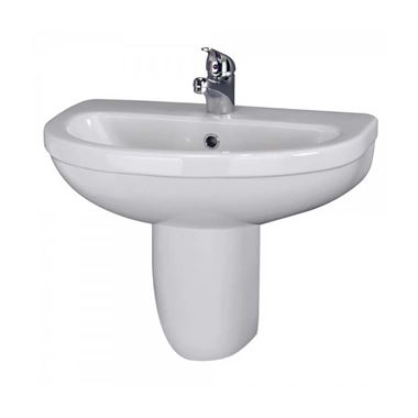 Vellamo Connect 550mm Semi Pedestal & Basin