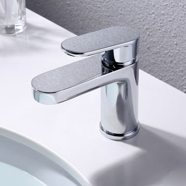 Vellamo Connect Basin Mixer Tap with Clicker Waste