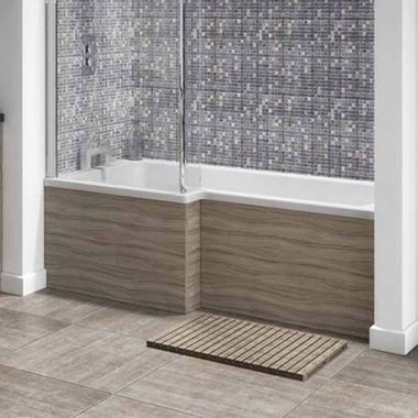 Vellamo Drift 1700mm Square Shower Bath Panel - Driftwood