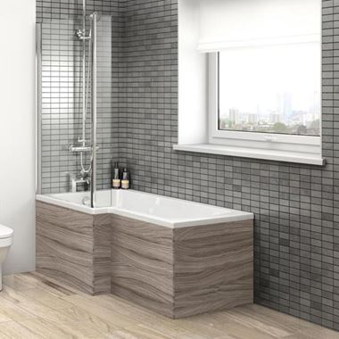 Vellamo Drift 700mm Square Shower Bath End Panel