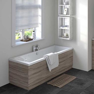 Vellamo Drift Driftwood Bath End Panel - 700mm