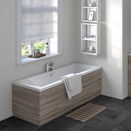 Vellamo Drift 1700mm Straight Bath Panel - Driftwood
