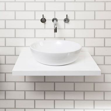 Vellamo Gloss White Floating Shelf Including 2 Brackets