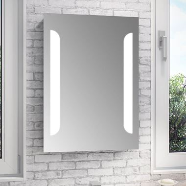 Vellamo LED Illuminated Mirror with Demister Pad & Shaver Socket - 500 x 700mm