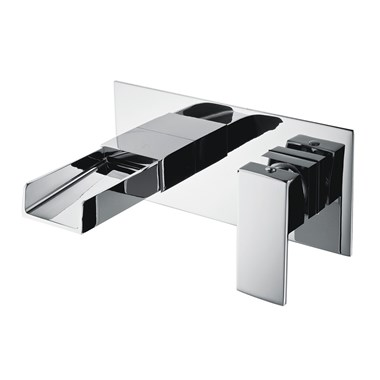 Vellamo Maya Waterfall Wall Mounted Basin Mixer Tap