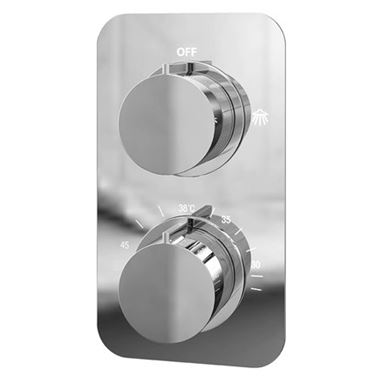 Vellamo Moderno Thermostatic 2 Outlet Concealed Shower Valve