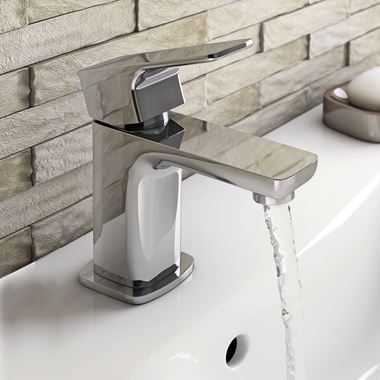Vellamo Panache Basin Mixer Tap with Waste