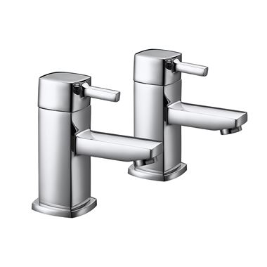 Vellamo Quadro Bath Pillar Taps