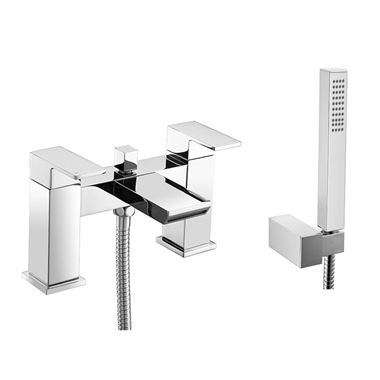 Vellamo Relate Waterfall Bath Shower Mixer with Shower Kit