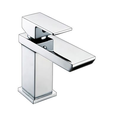 Vellamo Relate Waterfall Basin Mixer Tap & Clicker Waste